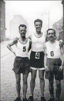 Willie Howie, David Bowman and Johnnny Duffy (all Clydesdale Harriers) - 1950s