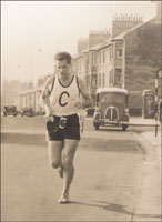 David Bowman of Clydesdale Harriers at Greenhead Road, Dumbarton - early 1950s