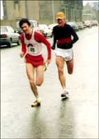 Phil Dolan (Clydesdale Harriers) and Allan Adams Senior (Dumbarton AAC) - mid 1970s